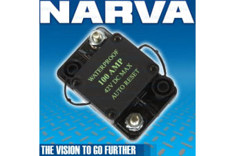 NARVA 100A AMP AUTO RESET CIRCUIT BREAKER DUAL BATTERY SYSTEM WATERPROOF 55954