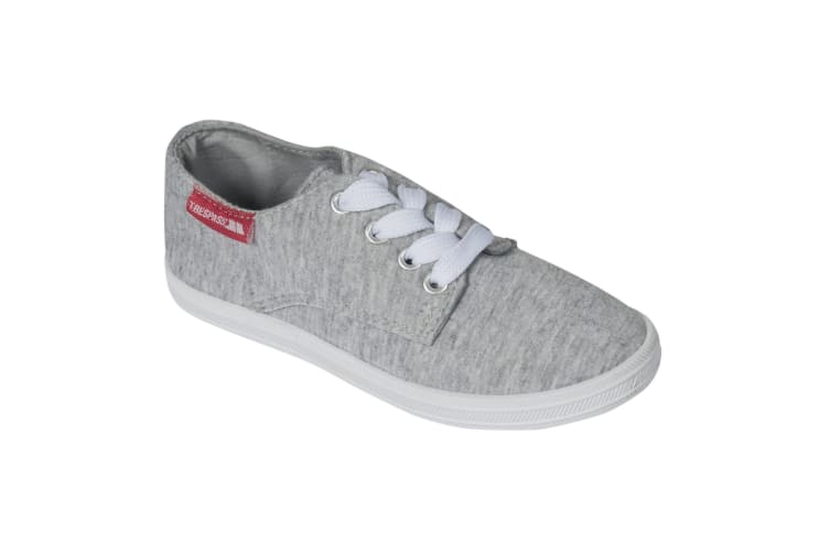 Trespass Childrens Boys Bumper Canvas Plimsoll Shoes (Grey Marl) (3 Youth UK)