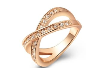 Fashion Vintage Zircon Gold Plated Ring For Wedding Engagement Gift 8