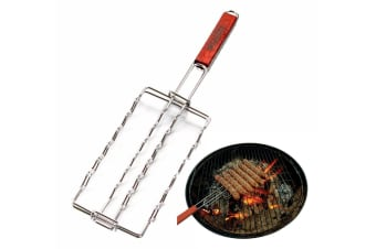 Sausage Grill Basket Rack Top Grade BBQ Barbecue Grilling Camping Sausage Holder