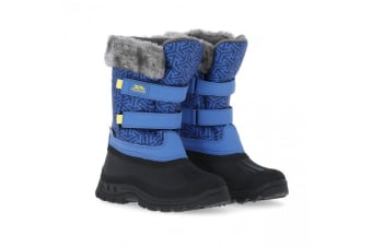 Trespass Childrens/Kids Vause Touch Fastening Snow Boots (Blue Print) (2 Youth UK)