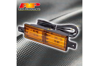 1x BULLBAR LED FRONT INDICATOR FLASHER LIGHT LAMP SUBMERSIBLE 12V VOLT AP11680