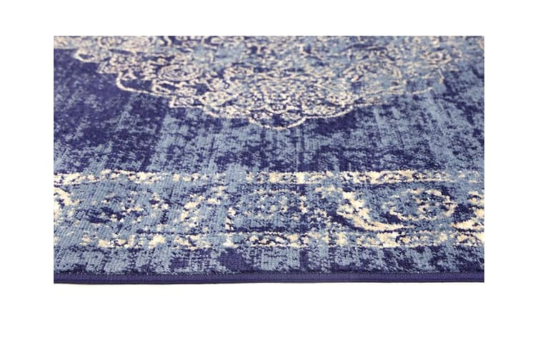 Old World Distressed Navy Rug - 240x330cm