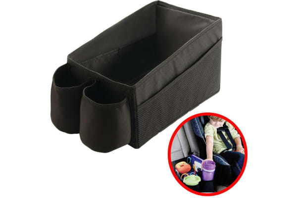 Kids Car Storage Organiser Tray w Cup Holders