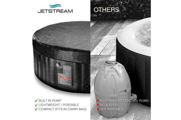 Jetstream Inflatable Spa Massage Portable Jacuzzi Hot Tub Outdoor Pool Bath Swim