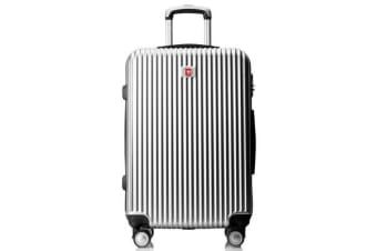 "Swissgear 20"" Luggage Suitcase Hard Shell Tsa Locks Silver"