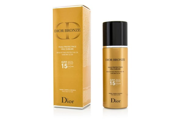 Christian Dior Dior Bronze Beautifying Protective Oil Sublime Glow SPF 15 - For Face, Body & Hair (125ml/4.2oz)