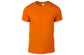 Anvil Mens Fashion Tee / T-Shirt (Neon Orange)