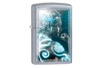 Zippo Mythical Man 28878 Genuine Street Chrome Finish Cigar Cigarette Lighter