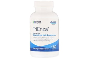 Houston Enzymes TriEnza Enzyme For Digestive Intolerances 180 Capsules