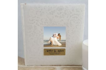 Personalised Cream Lace Engagement Photo Album - 200