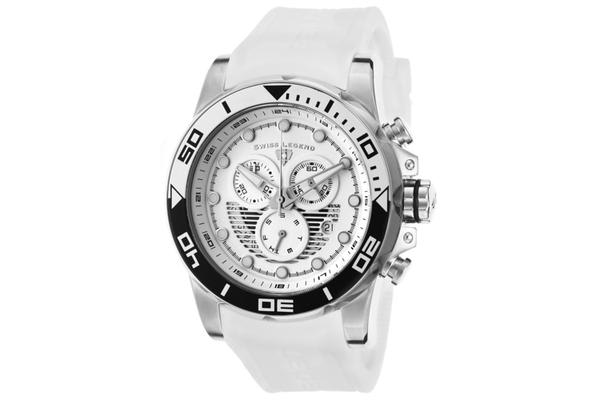Swiss Legend Men's Avalanche Chronograph White Dial White Silicone (SL-21368-02-WHAS)