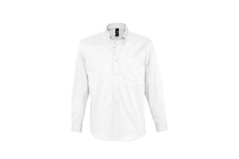SOLS Mens Bel-Air Long Sleeve Twill Work Shirt (White) (4XL)