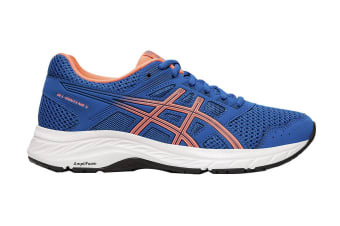 ASICS Women's Gel-Contend 5 Running Shoe (Lake Drive/Sun Coral, Size 10.5 US)