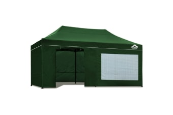 3x6 Pop Up Gazebo Hut with Sandbags (Green)