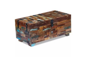 vidaXL Coffee Table Box Chest Solid Reclaimed Wood 80x40x35 cm