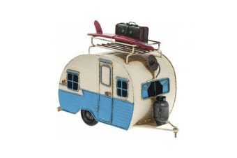 Vintage Caravan Collectible Model (Blue/Cream)