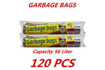 120 x 56L Heavy Duty Bin Garbage Bags Liners Rubbish Bags Black Garden Clean Rectangle
