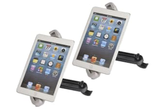 "2X 360° Rotating Universal Headrest Tablet Car Mount Holder 7"" - 10"" [2 Pack]"