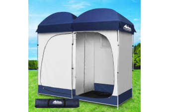 Weisshorn Double Camping Shower Toilet Tent Outdoor Portable Change Room Ensuite