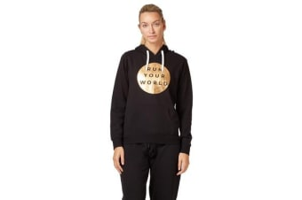Saucony Run Your World Circle Hoody Jumper (Black)