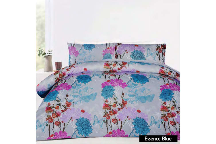 Essence Blue Quilt Cover Set KING by Big Sleep