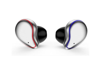 Select Mall 5.0 Wireless BluetoothHeadphones 3D Stereo Sound Waterproof HeadphonesNoise Cancelling Earbuds-Silver
