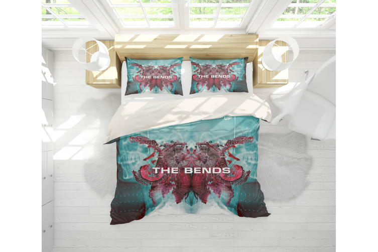 3D Band Radiohead Quilt Cover Set Bedding Set Pillowcases 61-King