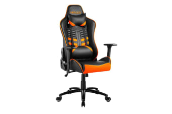 e-Sports Executive Computer Gaming Office Chair - Orange and Black