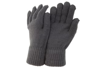 CLEARANCE - Mens Thermal Knitted Winter Gloves (Grey) (One Size)