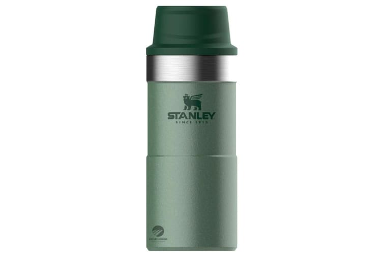 STANLEY CLASSIC 350ml 12oz INSULATED TRIGGER ACTION TRAVEL MUG - GREEN