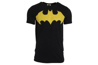 Batman Mens Bat Sign Logo T-Shirt (Black)