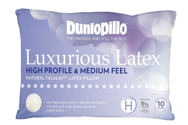 Dunlopillo Luxurious Latex High Profile Pillow (Medium Feel)
