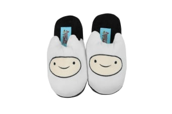 Adventure Time Official Childrens/Kids Finn Slippers (White)