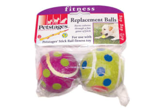 Petstages Polka Dot Dog Toy Tennis Ball (Pack Of 2) (Multicoloured) (One Size)