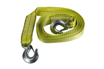 4500Kg Heavy Duty Tow Strap 50Mm X 4.5M With Steel Hook Car Boat 4X4 4Wd Towing