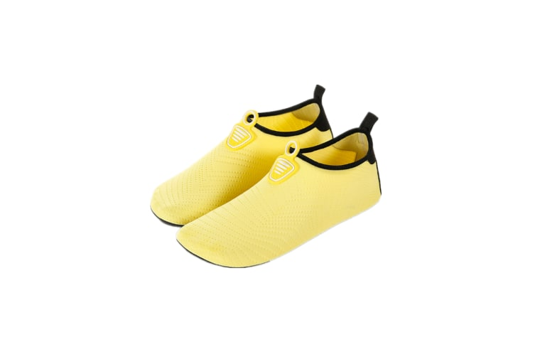 Water Socks Soft Slippers Sports Aqua Shoes Wading Diving Shoes Barefoot Shoes Yellow 42-43