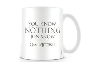 Game Of Thrones Official You Know Nothing Mug (White) (One Size)