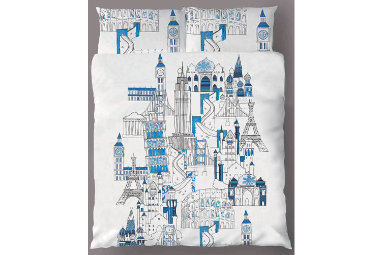 Around The World Quilt Cover Set QUEEN