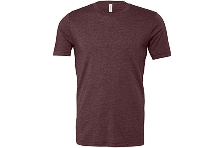 Canvas Unisex Jersey Crew Neck T-Shirt / Mens Short Sleeve T-Shirt (Heather Maroon) (XL)
