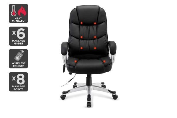 Ergolux Deluxe 8 Point Massage Office Chair with Heat Function
