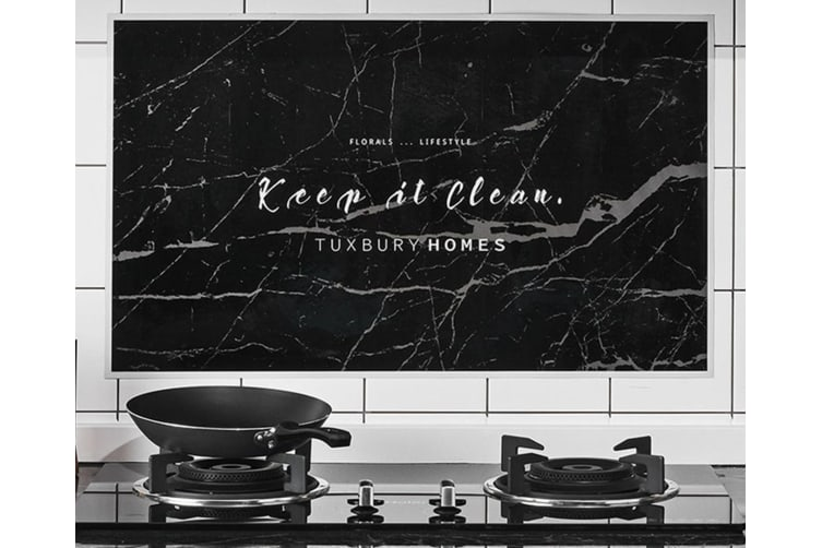 High Temperature And Oil Resistant Sticker Paper Kitchen Tile Fume Wall Sticker - 4 Black