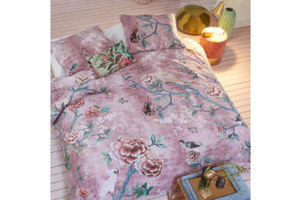 Armelle Pink Quilt Cover Set Queen