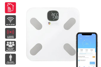 Kogan SmarterHome™ Wi-Fi Body Composition Smart Scale (White)