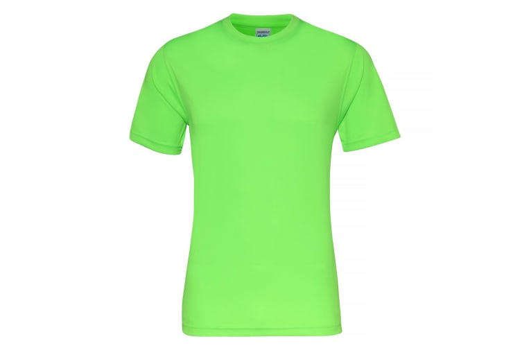 AWDis Just Cool Mens Smooth Short Sleeve T-Shirt (Electric Green) (L)