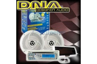 DNA MA5BP BLUETOOTH MARINE PACK FLUSH MOUNT AM FM RADIO CD IPOD USB + SPEAKERS