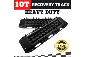 ATEM POWER Pair Recovery Tracks 10T Sand Track Sand Snow Mud Trax Black ATV Offroad 4WD NEW