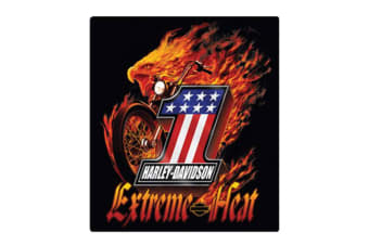 Harley Davidson Die Cut Embossed Tin Sign - Extreme Heat