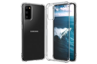 ZUSLAB Galaxy S20 4G 5G Tough TPU Clear Case Shock Absorption Rubber Bumper Protective Cover for Samsung