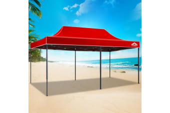 Pop Up Gazebo 3x6 Outdoor Tent Folding Wedding Marquee Gazebos Red